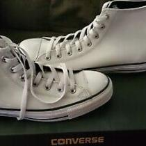 Chuck Taylor Converse Men 11 White Leather Photo