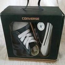 Chuck Taylors Hi Infant Sz 3 Converse First Star Blk Baby. Must Have for Photos Photo