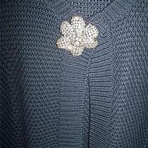 Chunky Softest  Lanvin Cardigan  W Big Jewel Pin L Photo