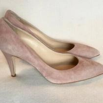 Ciaschi Blush Beige Suede Pumps Patent Heels Italy Sz 38.5 Photo