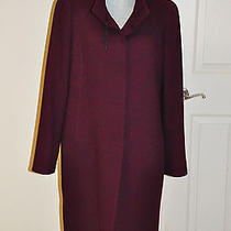Cinzia Rocca Burgundy Wine Women Coat Sz 10  Photo