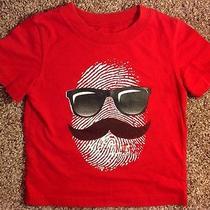 Circo Boy's Red Short Sleeve Sunglass & Mustache Shirt - Size 2t - Super Cute Photo