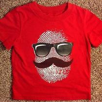 Circo Boy's Red Short Sleeve Sunglass & Mustache Shirt - Size 2t - Super Cute Photo