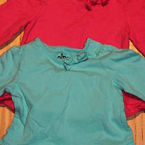 Circo Target Shirts Set of 2 Aqua Blue and Pink Long Sleeve Size 9 Months  Photo
