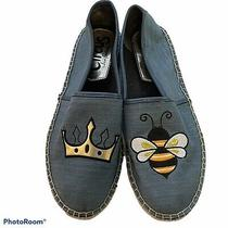 Circus by Sam Edelman Leni 6 Queen Bee Womens Size 8 1/2 Blue Flats Photo