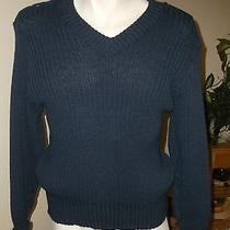Citadel Navy Blue Military Commando Wool v Neck Sweater Men's Uk Size 42 Photo