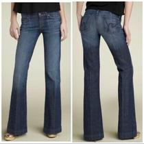 Citizens of Humanity Coh 168 Womens Wide Leg Flare Jeans Faye Low Waist Blue 26 Photo