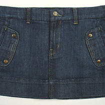 Citizens of Humanity Coh Denim Mini Skirt Sz 30 Trouser Style Nwot Cotton Blend Photo