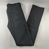 Citizens of Humanity Elson Medium Rise Straight Leg Black Jeans Womens Size 29 Photo