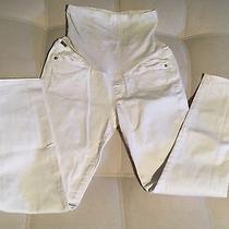 Citizens of Humanity for a Pea in a Pod  28 Cropped White Maternity Jeans Photo