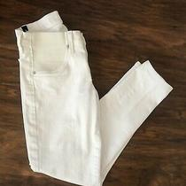 Citizens of Humanity Maternity Low Rise White Avedon Ankle Jeans Sz 25 Photo