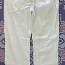 Citizens of Humanity Relaxed Button Fly White Jeans Size 32 Distressed Photo