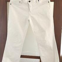 Citizens of Humanity White Low Waist Cropped Jeans - Size 32 Photo