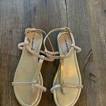 City Classified Sandals Blush and Gold Size 5.5 Photo