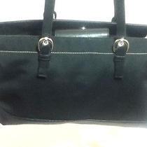 City Dkny Black Microfiber Tote Shoulder Bag  Photo