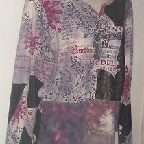 City Elements Multi Color Long Sleeve Pull Over Top Xl Bust 44