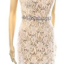 City Studio New Pink Blush Nude Sequin Lace Size 7 Juniors Dress 72 Deal Photo