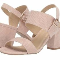 Cl by Laundry Block Heel Sandal Size 8.5 Blush Msrp 70 New Photo