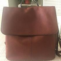 Claire Brandy Leather Fossil Backpack Photo