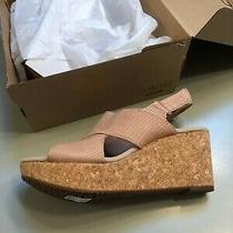 Clark's Annadel Sky Snakeskin Blush Wedges 9.5 Us Photo