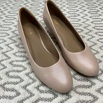 Clarks Vendra Bloom Dusty Rose Round Toe Wedge Womens Size 9.5 Photo