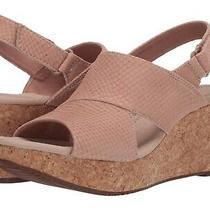 Clarks Annadel Sky Wedge Sandals Blush Nubuck Women Size 11m 129  New Photo