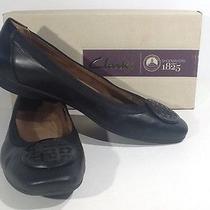 Clarks Artisan Candra Blush Womens Sz 8m Black Leather Ballet Flats Shoes Ts-319 Photo
