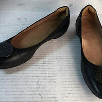 Clarks Candra Blush Black Leather Flat Ballet Shoes 26120247 Women 11/42.5m Euc Photo