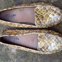Clarks Faux Croc Moccasins 7.5 Photo