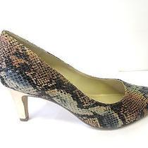 Clarks Ladies Court Shoes Versatile Slip on Mid Heel Elegant Leather Arista Abe Photo
