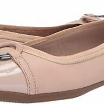 Clarks Women's Gracelin Wind Ballet Flat Blush Leather Size 10.0 Lybx Photo