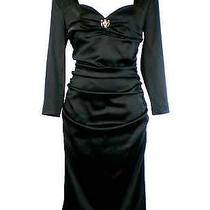 Class Roberto Cavalli Luxurious Fitted Black Dress Photo