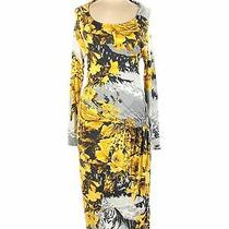 Class Roberto Cavalli Women Yellow Casual Dress 10 Photo
