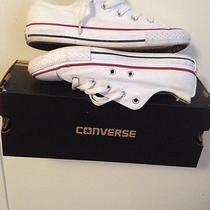 Classic All Star White Blue & Red Converse Low Top Photo
