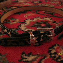 Classic and Chic Brighton Leopard Cheetah Pony Hair Leather Belt Xsmall Xs  Photo