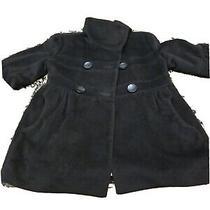 Classic Black Abs Peacoat / Coat Size S Photo