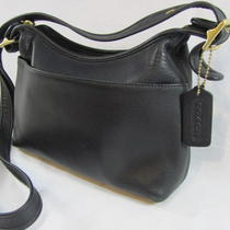 Classic Black Leather Coach Purse Tote Bag Strap A2p-9136 Photo