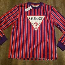 Classic Brand New With Tags Guess Long Sleeve Call Out T Shirt Large Fog Photo
