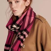 Classic Burberry Scarf 100% Cashmere Made in Scotland for Men & Women    Photo