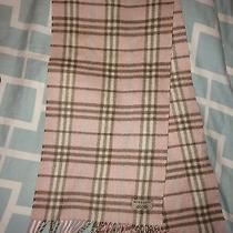 Classic Burberry Scarf 100% Cashmere Pink Photo