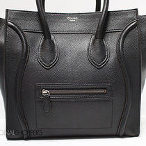 Classic Celine Black Drummed Leather Mini Luggage Bag Photo