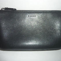 Classic Coach Large Black Leather Cosmetic Case Beautiful Vintage Condition Photo