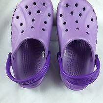 Classic Crocs Cayman Style Purple  Sz Women's 4(2j4) Like New Clogs Sandals-Ss07 Photo