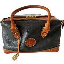 Classic Dooney & Bourke Doctor Bag Large Black Excellent Vintage Condition Photo