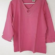 Classic Element Womens Top Xl 18 Pink 3/4 Sleeve Photo