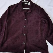 Classic Elements 18w Plum Colored Jacket Excellent Pre-Owned Blazer Photo