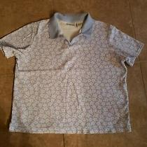 Classic Elements Baby Blue Print Polo Size L Photo