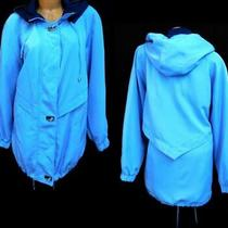 Classic Elements Blue Drawstring Long Sleeve Full Zipper Hoodie Jacket 20/22w Photo