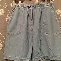 Classic Elements Chambray/light Weight Denim Shorts- Size 14-16 Photo