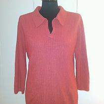 Classic Elements Collared Sweater Sz 18 Acrylic Solid Spice Xl Photo